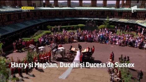 """Prințul Harry și Meghan Markle au spus """"Da"""" în fața întregii lumi! Parada mirilor pare desprinsă dintr-un basm!"""