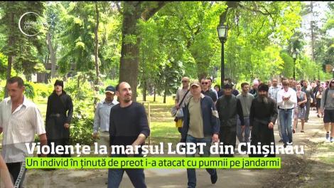 """Marşul anual al comunităţii LGBT din Chişinău a fost umbrit de violenţele provocate de membrii unui grup autointitulat """"preoţii şi credincioşii ortodocşi"""""""
