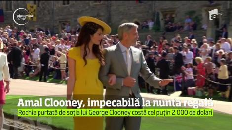 Soţia actorului George Clooney a fost încoronată drept cel mai bine îmbrăcat invitat de la nunta prinţului Harry cu Meghan Markle