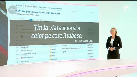 """Observator şi Poliţia Română au lansat petiția """"Stop live pe Facebook la volan! Dă like vieții!"""""""