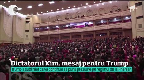 Dictatorul Kim Jong-un, mesaj-surpriză pentru Donald Trump