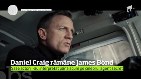 Daniel Craig se va întoarce pentru a cincea oară în rolul James Bond