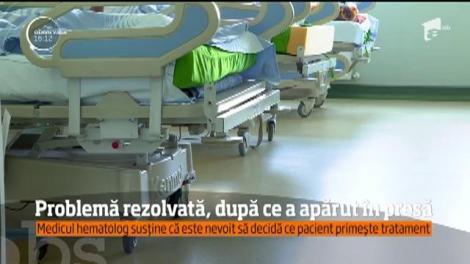 Un medic hematolog de la Spitalul Municipal Ploieşti, nevoit să decidă care din bolnavii grav trebuie salvat şi care nu