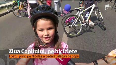 Ziua Copilului, pe biciclete! Fostul principe Nicolae a pedalat alături de copii. Oare se pregătește să fie tată?