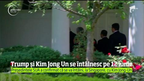 Donald Trump și Kim Jong Un se întâlnesc pe 12 iunie. Președintele SUA a confirmat că se va întâlni, la Singapore, cu Kim Jong