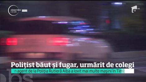 Polițist băut și fugar, urmărit de colegi. Un agent a lovit mai multe mașini în Timișoara