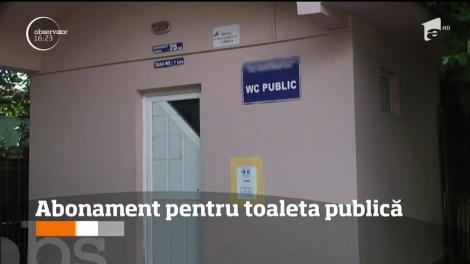 Abonament pentru toaleta publică, în Râmnicu Vâlcea