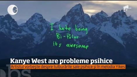Kanye West a recunoscut că are probleme psihice