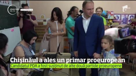 Noul primar al oraşului Chişinău este Andrei Năstase, candidatul Platformei pentru Dreptate şi Adevăr, de orientare pro-europeană