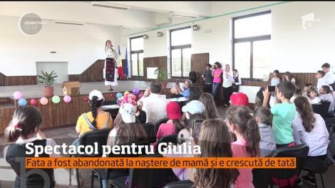 Spectacol pentru Giulia, o fetiţa de opt ani care trece prin clipe cumplite