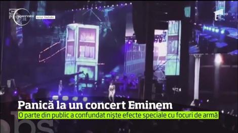 """""""Atac armat!"""". Focuri de armă, la un concert susţinut de Eminem. Ce s-a întâmplat, în timp ce artistul se afla pe scenă"""