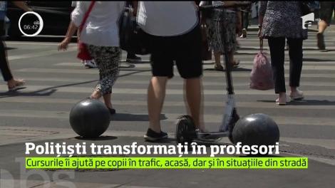 Cursuri predate de polițiști, în școlile din România! Ce învață elevii