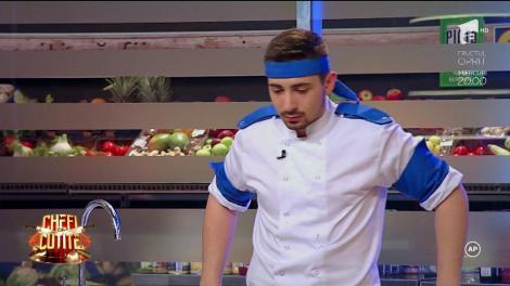 Echipa albastră rămâne în doi oameni! Chef Florin Dumitrescu, dezamăgit de plecarea Elenei Rus