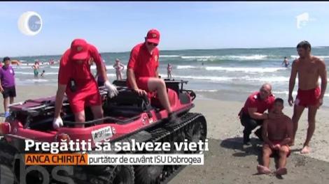 În șapte stațiuni de pe litoralul românesc sunt prezente corturi de prim-ajutor și motociclete SMURD