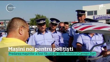 Autoturisme noi pentru agenți! O sută de mașini noi au intrat în dotarea Poliției Române