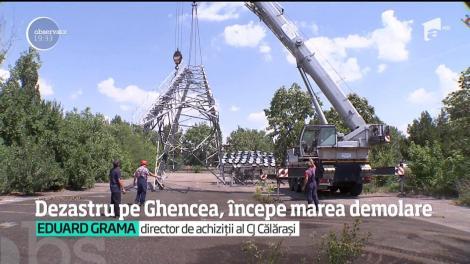 Dezastru pe stadionul Ghencea, începe marea demolare