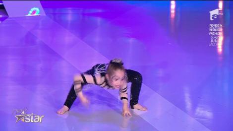 "Bianca Purice, număr de contorsionism la ""Next Star"""