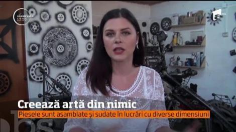 Un tânăr din Alba Iulia face opere de artă din piese de mașină uzate