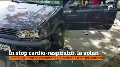 Un stop cardio-respirator la volan a fost cât pe ce să ducă la o tragedie pe o şosea din oraşul Constanţa
