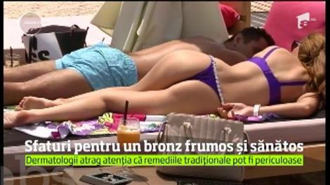 În plin sezon estival, toate doamnele şi domnişoarele visează la un bronz perfect, arămiu