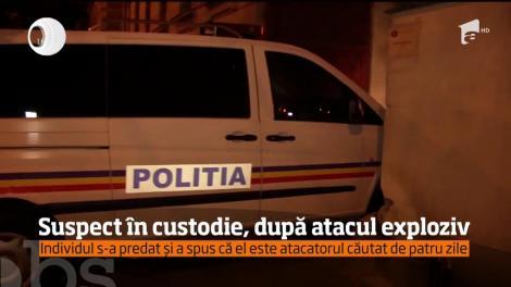 Suspect în custodie, după atacul exploziv. Individul s-a predat și a spus că el este atacatorul căutat de patru zile