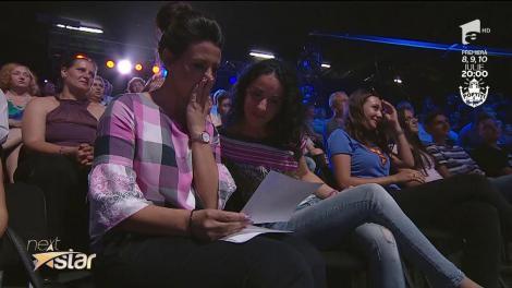 Lacrimi pe scena Next Star. Denisa Grumeza, mesaj emoționant pentru profesoara ei