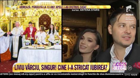 Liviu Vârciu este, din nou, singur. Cântăreţul a anunţat că a pus punct relaţiei cu mama fetiţei sale