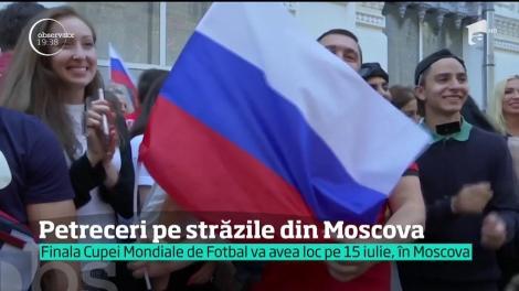 Victoria Rusiei la CM de Fotbal, motiv de petrecere pentru mii de locuitori din Moscova