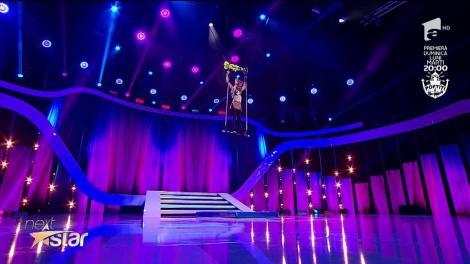 "Aija Taheira Surugiu, spectacol magnific la trapez pe scena ""Next Star"""