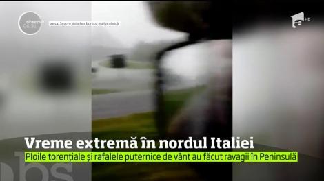 Vreme extremă în nordul Italiei! Ploile torențiale au făcut ravagii în Peninsulă