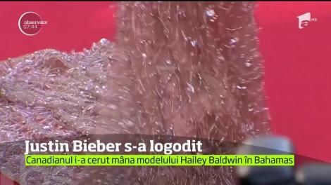 Justin Bieber s-a logodit cu modelul Hailey Baldwin, scriu tabloidele de peste ocean