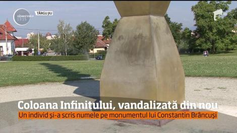Coloana Infinitului a fost vandalizată din nou