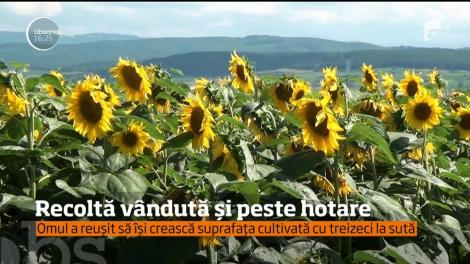 Un agricultor din județul Alba are sute de hectare de grâu şi de rapiţă şi reuşeşte să-şi vândă producţia în ţară și peste hotare