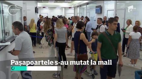 Pasapoartele se fac doar la mall. Ministerul de Interne a vrut să scape de cozile de la ghişee, dar se loveşte acum de alte nemulţumiri
