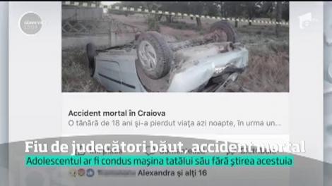 O tânără a MURIT după ce fiul unor judecători a furat maşina tatălui şi a plecat cu prietenii într-o cursă nebună! Ce ALCOOLEMIE avea șoferul?
