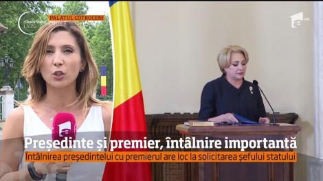 Klaus Iohannis şi Viorica Dăncilă s-au întâlnit la Palatul Cotroceni