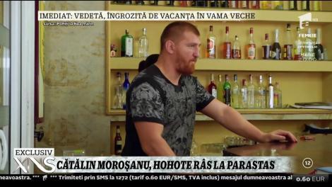 """Cătălin Moroșanu, hohote de râs la parastas, în emisiunea """"Poftiți la Nea Mărin"""""""
