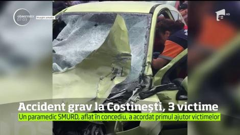 Accident grav la intersecţia dintre drumul ce vine din staţiunea Costineşti şi DN 39