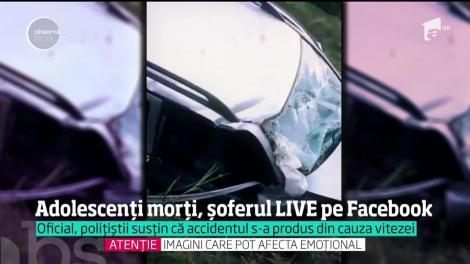 Încă doi tineri au murit pe o şosea din România, pentru că şoferul făcea live pe facebook la volan