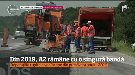 În plin sezon estival, cei de la Drumuri s-au apucat să repare pentru a doua oară Autostrada Soarelui
