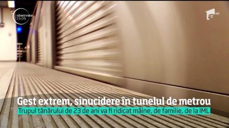 Încă o tragedie a avut loc la metrou. Un tânăr s-a aruncat pe șine şi nimeni n-a avut destul timp să îl salveze