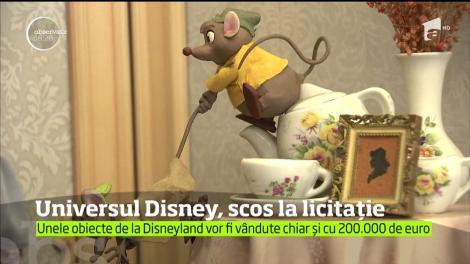 Sute de piese memorabile din lumea de basm a lui Disney sunt expuse în California, înainte de a fi vândute la licitaţie