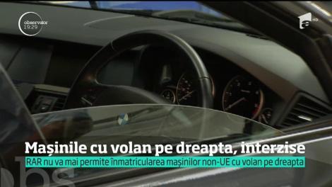 Registrul Auto Român nu va mai permite înmatricularea mașinilor non-UE cu volan pe dreapta