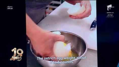 Smiley News! Restaurant care servește ouă de struț