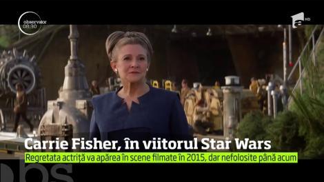 Regretata Carrie Fisher va reveni în rolul prinţesei Leia, în viitorul film din seria Star Wars
