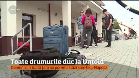 Toate drumurile duc la Untold! Oameni din toată țara au pornit spre Cluj-Napoca