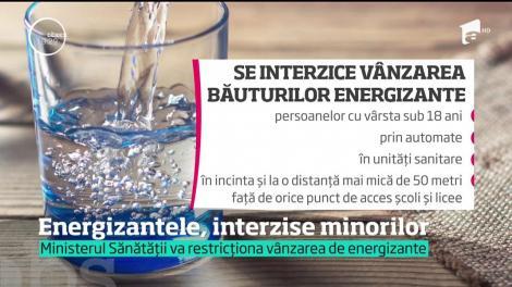 Copiii nu vor mai avea voie să consume băuturi energizante