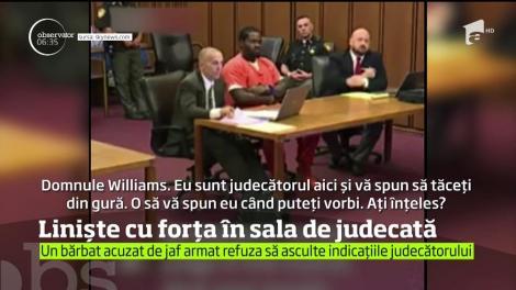 Un judecător de peste Ocean a luat o măsură dură pentru a face linişte în sală