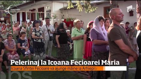 Icoana Făcătoare de Minuni a Fecioarei Maria a pornit în pelerinaj, la Galați