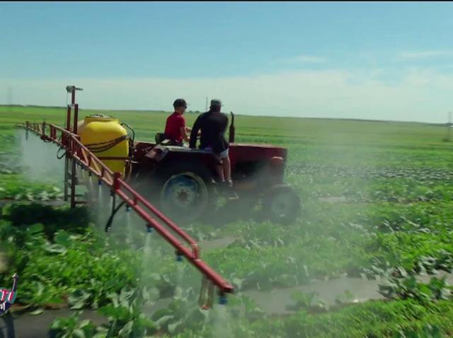 """Șerban Copoț și Coco Marinescu, show cu tractorul pe câmp! """"Vrem să facem o lume mai bună"""""""